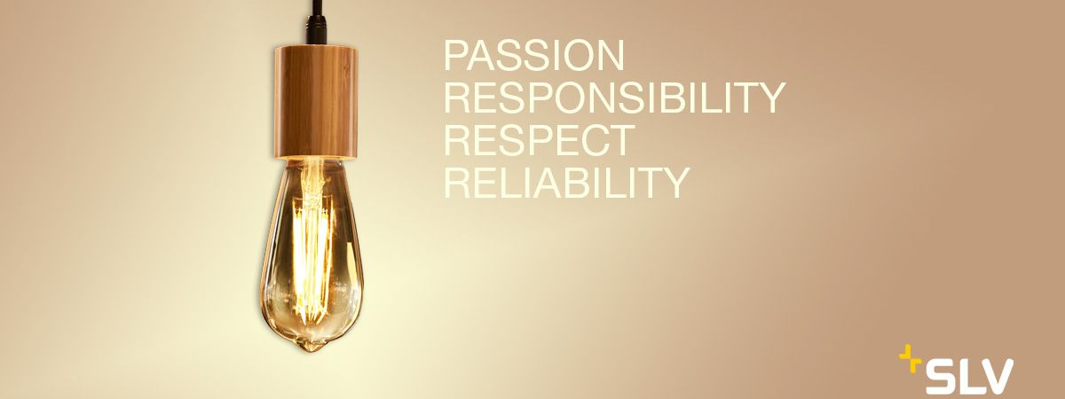 """Pendant luminaire from SLV with the values """"passion, sense of responsibility, respect & reliability""""."""